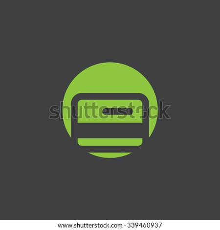 bank card cutted identity template icon design element - stock photo