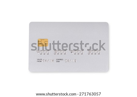 bank card on white background - stock photo
