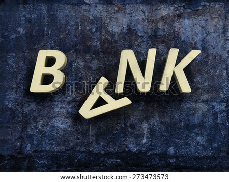 bank crisis - stock photo