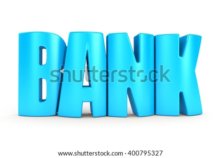 Bank 3d text - stock photo