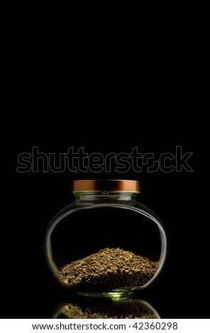 Bank from coffee - stock photo