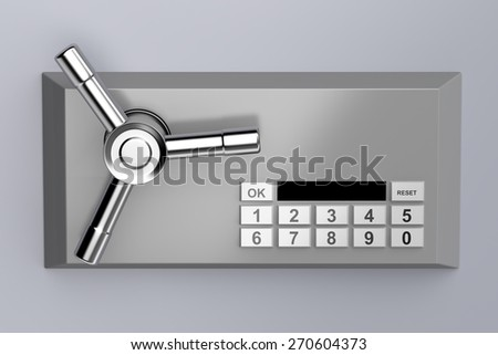 Bank safe with digital lock - stock photo