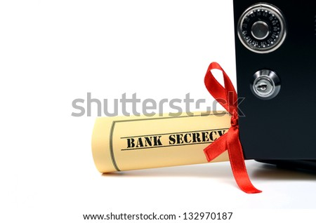 Bank secrecy concept, steel safe isolated - stock photo
