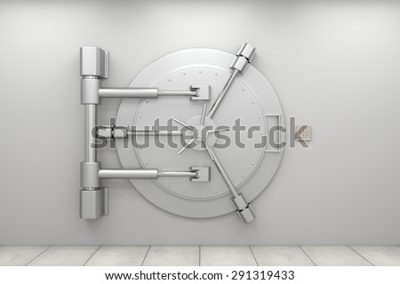 Bank Safe Vault Bank Vault Door Closed Safe