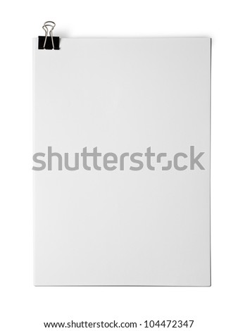 Bank white paper isolated on white background - stock photo
