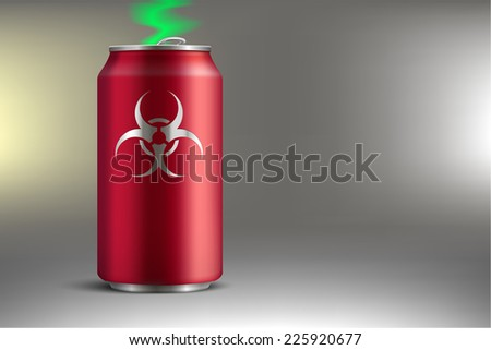 Bank with a poisonous soda - stock photo