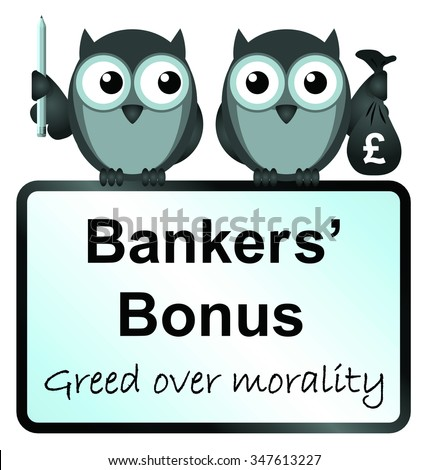 banker bonuses with UK currency sign isolated on white background - stock photo