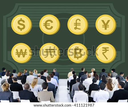 Banking Business Capital Currency Exchange Sign Concept - stock photo