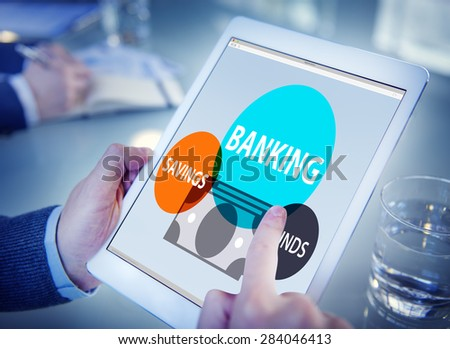 Banking Savings Funds Planning Finance Money Concept - stock photo
