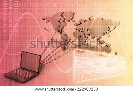 Banking Technology with Security and Access to Account - stock photo