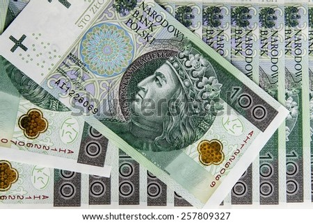 Banknote 100 PLN - stock photo