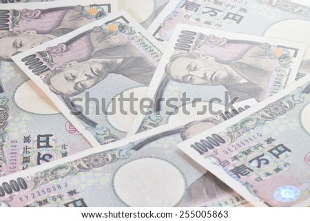 Banknotes of the Japanese yen- 10,000 yen - stock photo