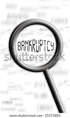 bankruptcy - stock photo