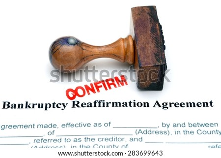 Bankruptcy agreement - stock photo