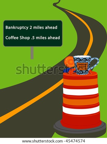 Bankruptcy Illustration - stock photo