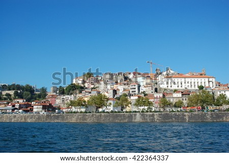Banks of river Dongo in charismatic city PORTO, PORTUGAL - stock photo