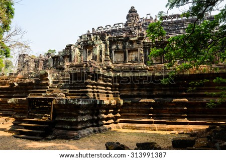 Baphuon, part of Khmer Angkor temple complex, popular among tourists ancient landmark and place of worship in Southeast Asia. Siem Reap, Cambodia. - stock photo