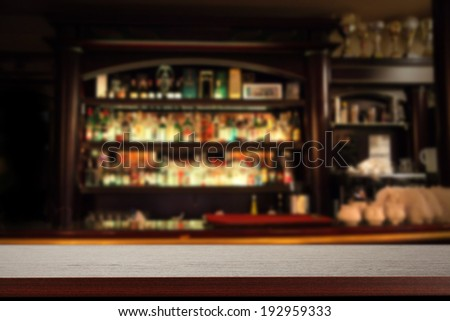 bar and wooden sill  - stock photo