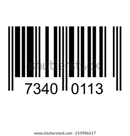 Bar code with fake numbers - stock photo