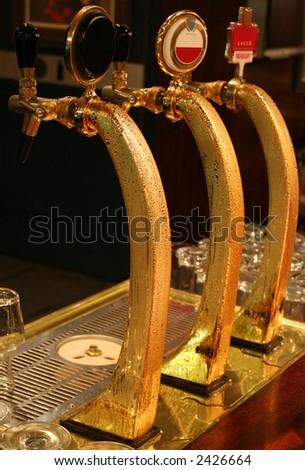 Bar counter in pub - stock photo