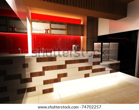 Bar Interior Design - stock photo