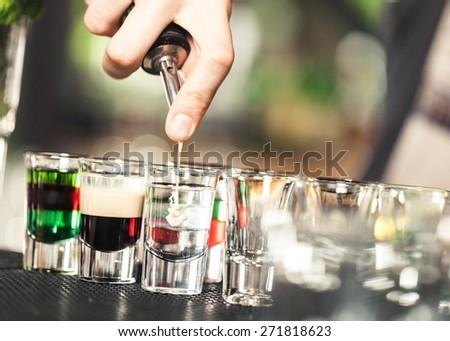 Bar, liquor, drink. - stock photo