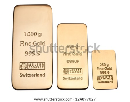 Bar of high quality gold. Favorable investment. - stock photo