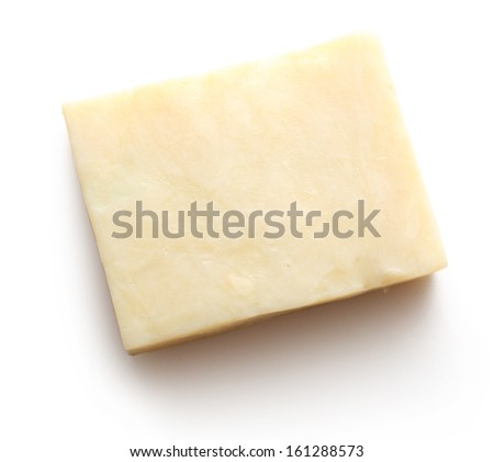 Bar of soap on white - stock photo