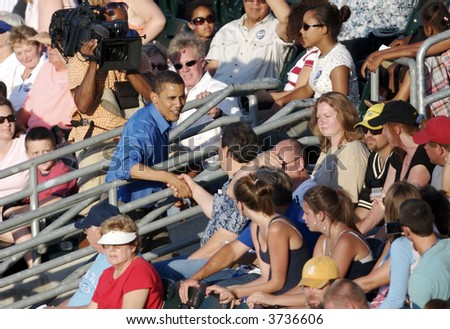 Barak Obama Campaigning - stock photo