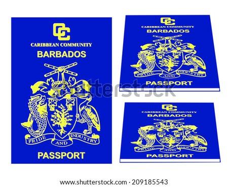 Barbados passport - stock photo
