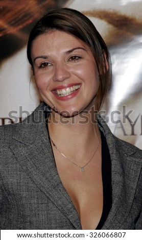"""Barbara Nedeljakova attends The Romar Entertainment Los Angeles Premiere of """"Bloodrayne"""" held at The Mann's Chinese Theater in Hollywood, California on January 4, 2006.  - stock photo"""