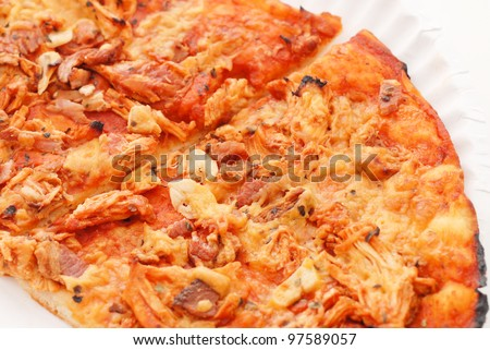 Barbecue Chicken Pizza - stock photo