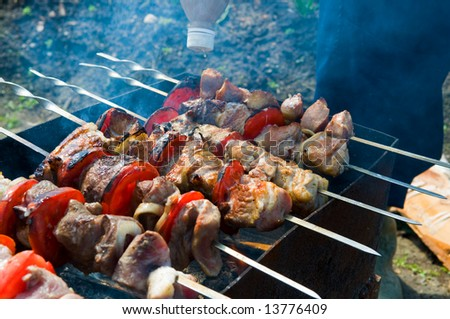 barbecue cooking - stock photo