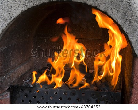 Barbecue fire - stock photo