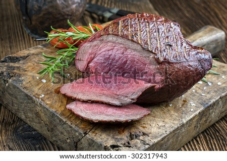 Barbecue Haunch of Venison - stock photo