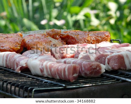 Barbecue series. Shallow DOF. - stock photo