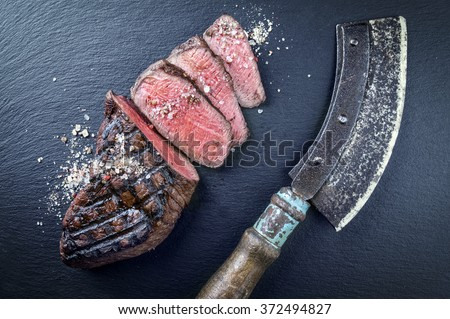 Barbecue Wagyu Point Steak - stock photo