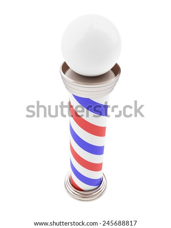 Barber Pole 3d Illustrations on a white background  - stock photo