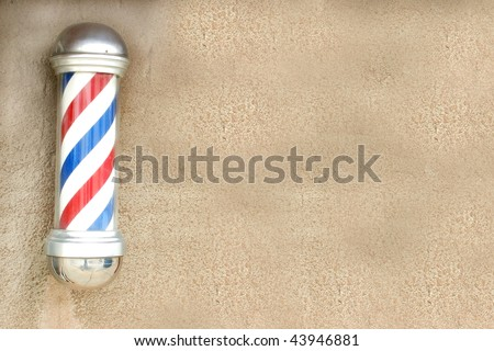 Barber's pole with space for text - stock photo