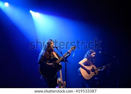 BARCELONA - APR 21: Kinsale (band) in concert at Razzmatazz stage on April 21, 2016 in Barcelona, Spain. - stock photo