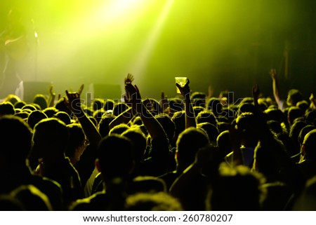 BARCELONA - JAN 29: Audience at Razzmatazz club on January 29, 2015 in Barcelona, Spain. - stock photo