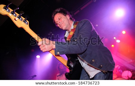 BARCELONA - MAR 01: The Brew (British rock group) performs at Bikini club on March 01, 2012 in Barcelona, Spain. - stock photo