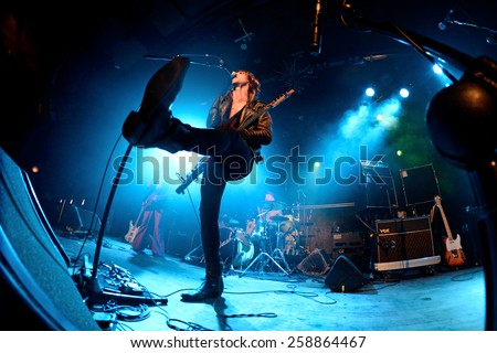 BARCELONA - MAR 7: The Dash (post-punk band) performs at Bikini stage on March 7, 2015 in Barcelona, Spain. - stock photo
