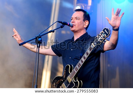 BARCELONA - MAY 30: The Wedding Present (band) performs at Arc de Triomf for free on May 30, 2012 in Barcelona, Spain. - stock photo