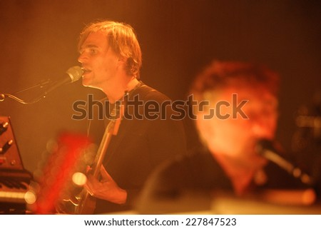 BARCELONA - MAY 08: Yann Tiersen, French musician, performance at Barts stage on May 08, 2014 in Barcelona, Spain. - stock photo