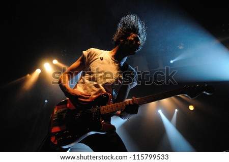 BARCELONA, SPAIN - MAY 31: Japandroids band performs at San Miguel Primavera Sound Festival on May 31, 2012 in Barcelona, Spain. - stock photo