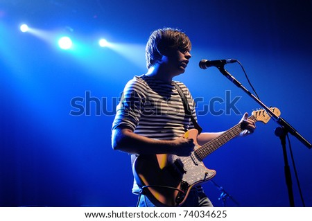 BARCELONA, SPAIN - NOV 13: Jenny and Johnny band, performs at Razzmatazz on November 13, 2010 in Barcelona, Spain. - stock photo