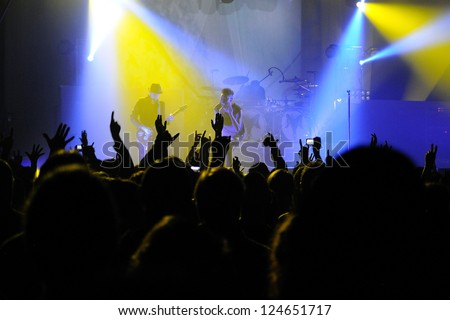 BARCELONA, SPAIN - NOV 9: Skunk Anansie band performs at Razzmatazz on November 9, 2012 in Barcelona. - stock photo