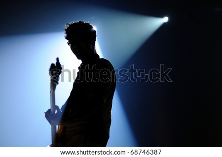 BARCELONA, SPAIN - SEPT 24: We are Standard performs at Discotheque Razzmatazz on September 24, 2010 in Barcelona, Spain. - stock photo