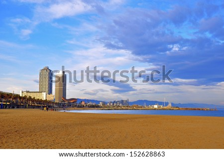 Barceloneta, district of Barcelona, Spain - stock photo